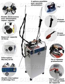 Mod.223 Générateur de vapeur AUTOMATIQUE avec pompe - DOUBLE ÉLECTROVANNES