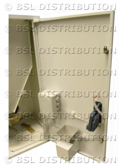Vue intérieure du distributeur de lessive DL1000
