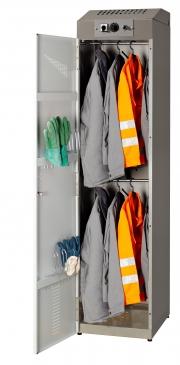 Armoire séchante de vêtements de travail pour petits groupes.