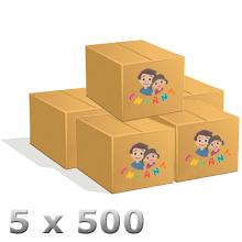 Lot de 5 x 500 cintres pressing 22/10 chemise ou pantalon Enfant.