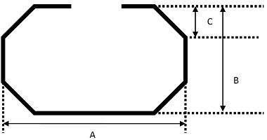 Profil goulotte standard