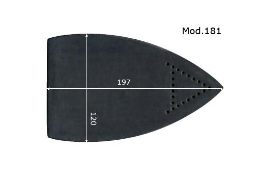 MOD.181 SEMELLE TEFLON FER A REPASSER RENFORCEE