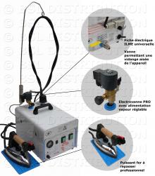 MOD.372 - Générateur centrale vapeur chaudière INOX 5 litres
