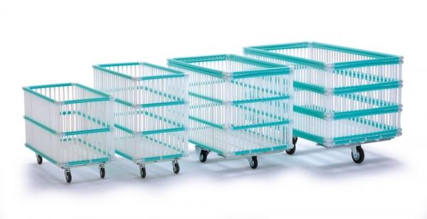 chariot linge pliable fil de fer plastifi. Black Bedroom Furniture Sets. Home Design Ideas