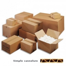 Caisse américaine carton simple cannelure 20 x 14 x 14 cm