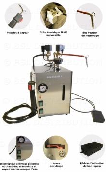 Générateur vapeur nettoyage dentaire professionnel INOX 5 Litres.