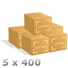 Lot de 5 x 400 cintres pressing 26/10 chemise ou pantalon.