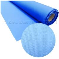 Tissu coton-polyester bleu clair (vente au mètre)