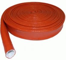 Gaine isolante en fibre de verre siliconée pour tuyau (vente au mètre)
