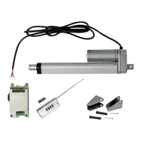 Vérin actionneur linéaire électrique (Kit complet) 450 mm 18