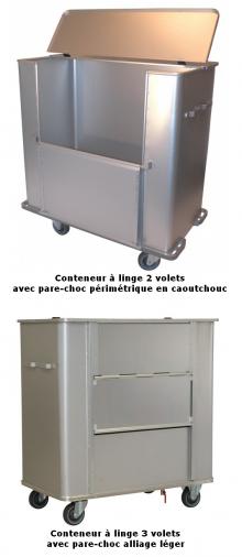 Chariot conteneur linge sale - 710L