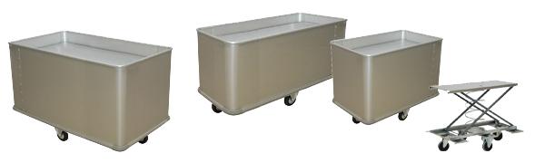 Chariot à linge pour laverie, blanchisserie - FOND MOBILE