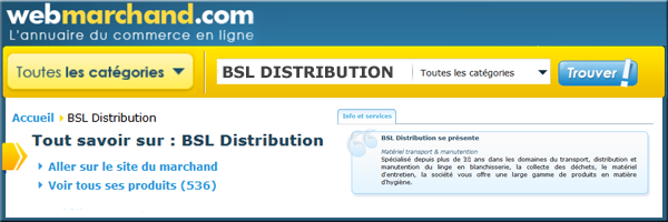 Webmarchand - BSL DISTRIBUTION :