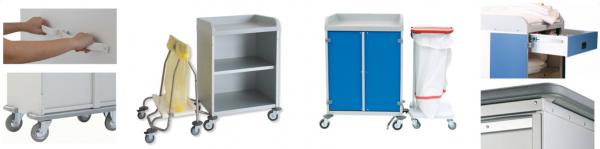 Option pour armoires à linge professionnelle