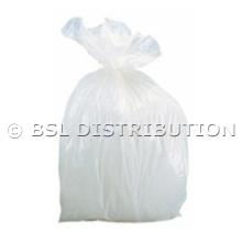 Sac poubelle polyéthylène 10 Litres Blanc, le lot de 1000 sacs.
