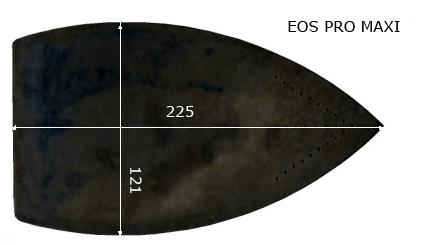 MOD.EOS PRO (MAXI) Semelle téflon fer à repasser, renforcée. 121 x 225 mm.