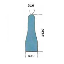 Housses rembourrées de tables à repasser (DOB) 530x1420x310mm