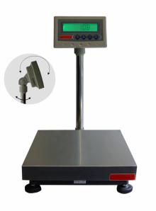 Balance de Pesage INOX avec colonne et indicateur, étanche. Portée 30 à 300kg. ( PZ )