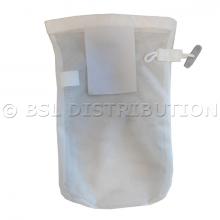Filet de lavage blanc 25 x 40 cm petite maille , idéal pour lingerie.