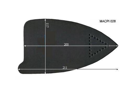 V.0055 MACPI 028 SEMELLE TEFLON FER A REPASSER RENFORCEE