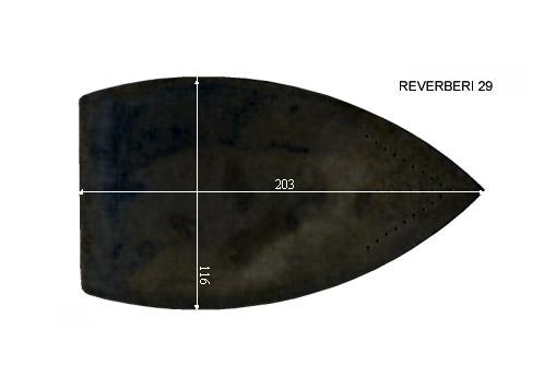 V.0375 REVERBERI 29      SEMELLE TEFLON FER A REPASSER RENFORCEE