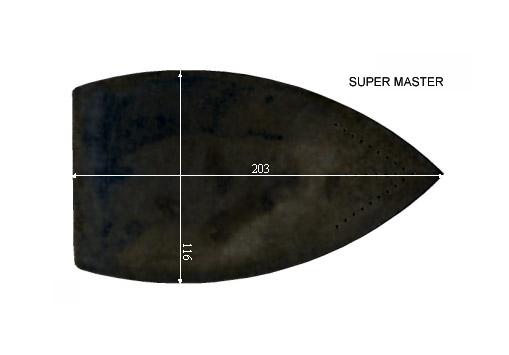 V.0380 SUPER MASTER      SEMELLE TEFLON FER A REPASSER RENFORCEE