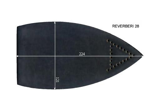 V.0420 REVERBERI 28      SEMELLE TEFLON FER A REPASSER RENFORCEE