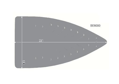 V.0650 BE 6000      SEMELLE TEFLON FER A REPASSER RENFORCEE
