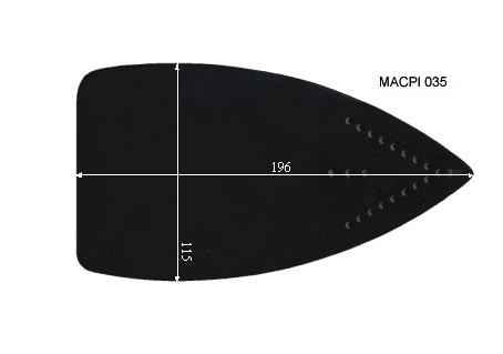 V.0870 MACPI 035      SEMELLE TEFLON FER A REPASSER RENFORCEE