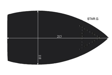 V.0950 STAR GRANDE      SEMELLE TEFLON FER A REPASSER RENFORCEE