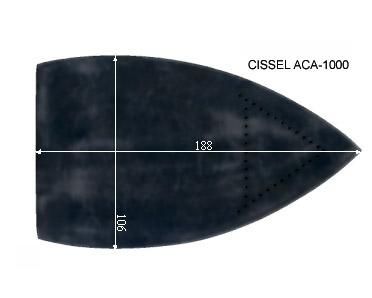 V.1155 CISSEL ACA 1000      SEMELLE TEFLON FER A REPASSER RENFORCEE