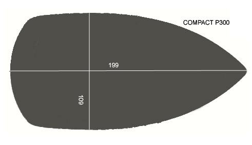 V.1200 COMPACT P300      SEMELLE TEFLON FER A REPASSER RENFORCEE
