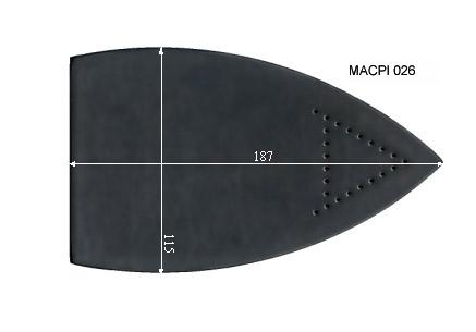 V.1405 MACPI 026      SEMELLE TEFLON FER A REPASSER RENFORCEE