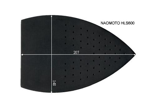 V.1600 NAOMOTO HLS 600      SEMELLE TEFLON FER A REPASSER RENFORCEE