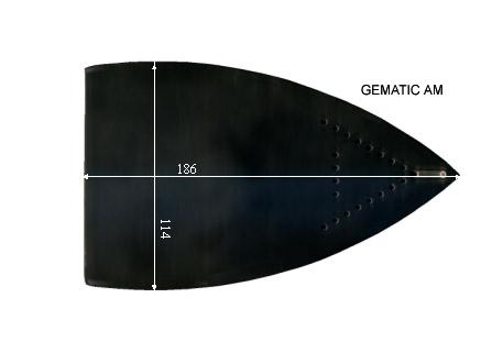 V.1700 GEMATIC AM      SEMELLE TEFLON FER A REPASSER RENFORCEE
