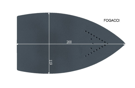 V.2050 FOGACCI      SEMELLE TEFLON FER A REPASSER RENFORCEE