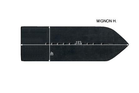 V.2150 MIGNON H.      SEMELLE TEFLON FER A REPASSER RENFORCEE