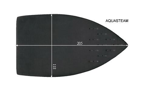 V.2360 AQUASTEAM  117 x 209mm.  SEMELLE TEFLON FER A REPASSER RENFORCEE