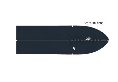 V.2855 VEIT HN 2000      SEMELLE TEFLON FER A REPASSER RENFORCEE