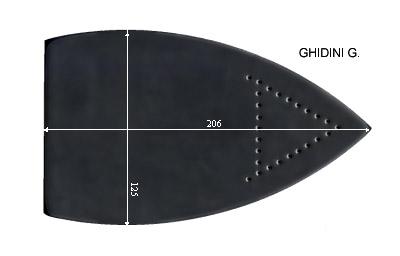 V.3350 GHIDINI GRANDE      SEMELLE TEFLON FER A REPASSER RENFORCEE