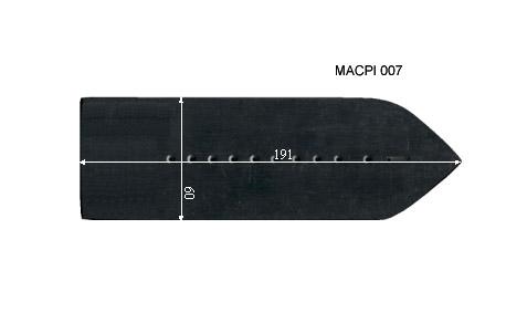V.3400 MACPI 007      SEMELLE TEFLON FER A REPASSER RENFORCEE