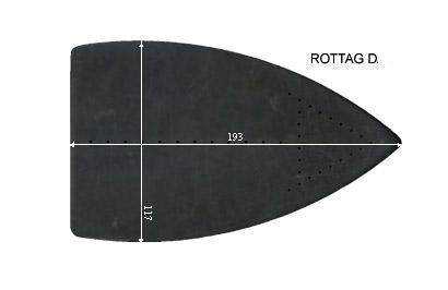 V.3455 ROTTAG D.      SEMELLE TEFLON FER A REPASSER RENFORCEE
