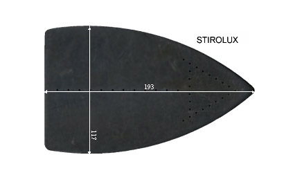 V.3460 STIROLUX      SEMELLE TEFLON FER A REPASSER RENFORCEE