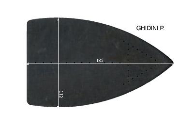 V.3650 GHIDINI PETIT      SEMELLE TEFLON FER A REPASSER RENFORCEE