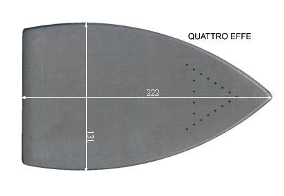 V.4050 QUATTRO EFFE      SEMELLE TEFLON FER A REPASSER RENFORCEE