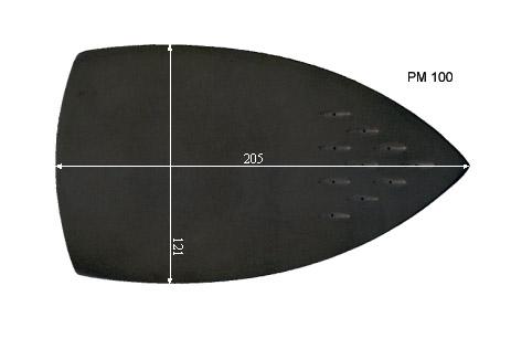 V.4100 SILVERSTAR PM 100      SEMELLE TEFLON FER A REPASSER RENFORCEE
