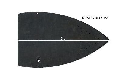 V.4250 REVERBERI 27      SEMELLE TEFLON FER A REPASSER RENFORCEE