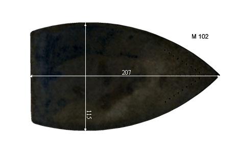 V.4450 M 102      SEMELLE TEFLON FER A REPASSER RENFORCEE