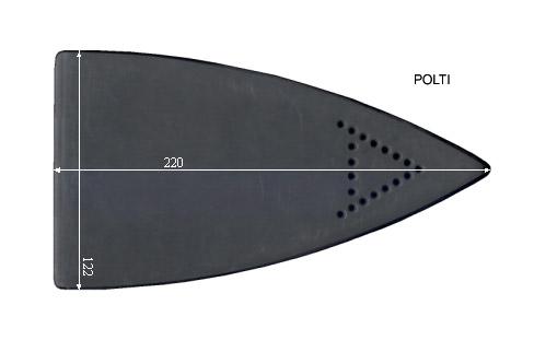 V.4550 POLTI      SEMELLE TEFLON FER A REPASSER RENFORCEE