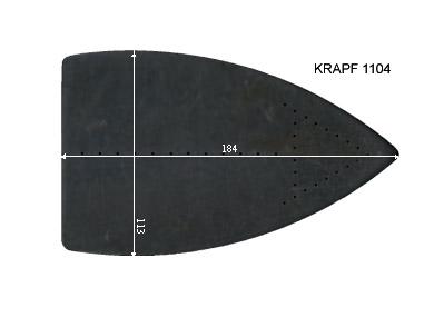 V.4900 KRAPF 1104      SEMELLE TEFLON FER A REPASSER RENFORCEE